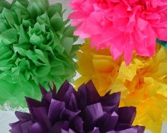 Tissue pom pom Kit - 5 Pom Pom kit- You choose COLORS tissue paper poms // diy // wedding decoration // baby shower // party decor