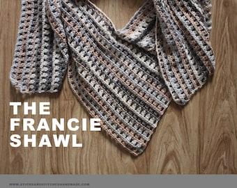 Francie Shawl Crochet Pattern // Easy Level // Oversized Lightweight Wrap