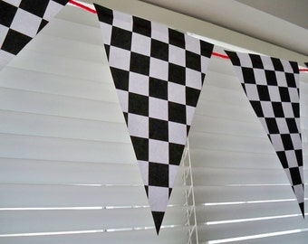 Checkered Pennant Banner