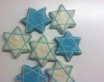 Jewish Star of David Gourmet Decorated Dog Treats 3-Pack