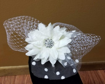 Miss Daisy Fascinator/Birdcage Veil