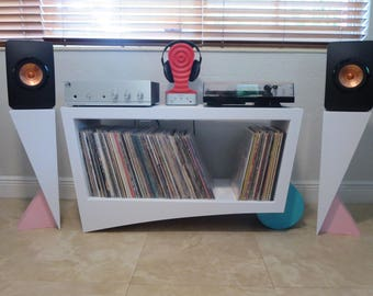 Turntable Record Storage and Credenza