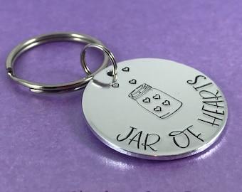 Jar of hearts keyring, I love you keyring, valentines gift, valentines keyring, love you gift, boyfriend gift, girlfriend gift, gift for her