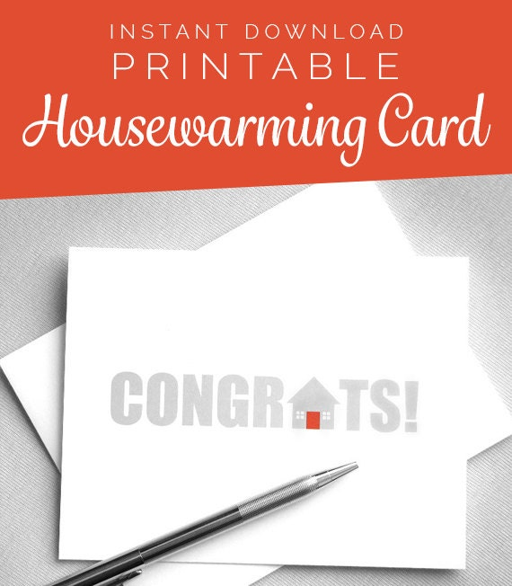 Printable card new house new home card housewarming card printable card new house new home card housewarming card congratulations card instant download digital download greeting card m4hsunfo Choice Image