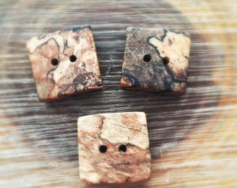 Set of 3 Hawaiian autograph exotic wood buttons