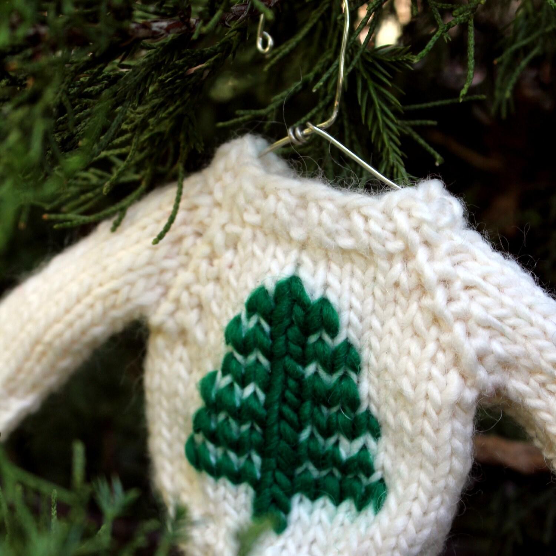 Knitting PATTERN / Mini Sweater Ornament / Christmas Decor /