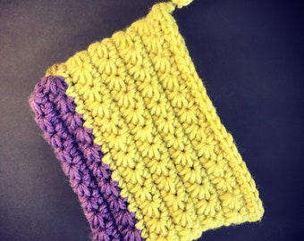 Crochet Pouch zippered and lined