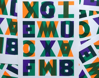 Visual Poetry Wood Type Print II