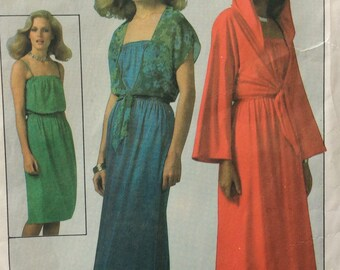 Simplicity 8269 misses dress in two lengths & jacket size 16 bust 38 vintage 1970's sewing pattern