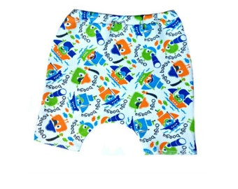 Cute Baby Boys' Ooga Booga Pirate Shorts. 4 Sizes for Preemie and Newborn Babies up to 0-3 Months. Sweet Addition to Coming Home Outfit.