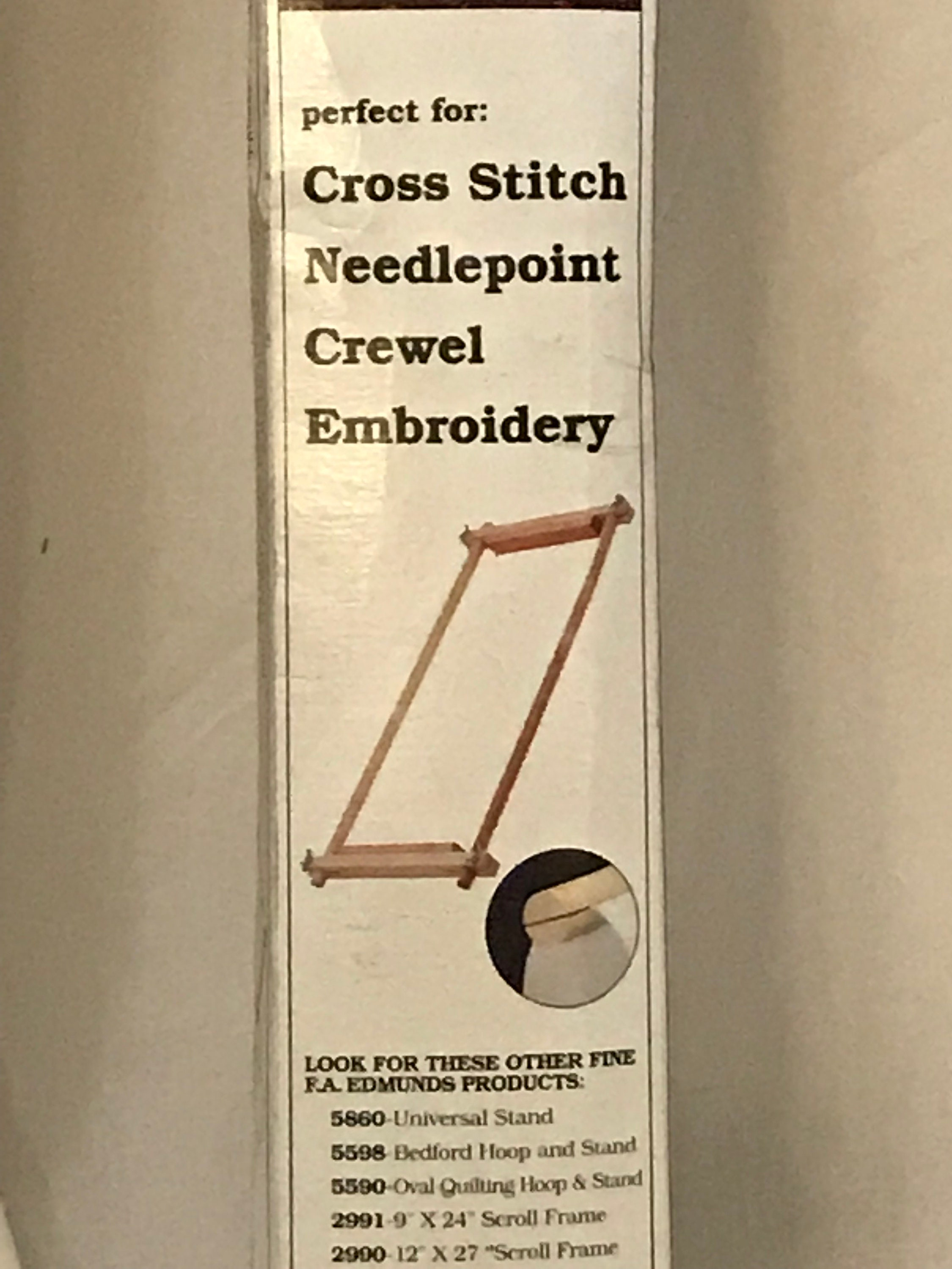 Scroll Frame for Cross Stitch, Needlepoint, Crewel, Embroidery, 9\