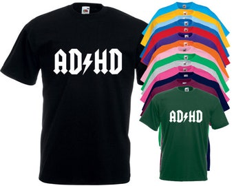 Adhd Acdc Style T-Shirt