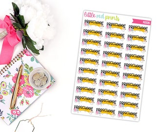 Preschool Planner Stickers for the Erin Condren Life Planner, Pre-School Sticker, Pre School Planner Sticker - [P0335]