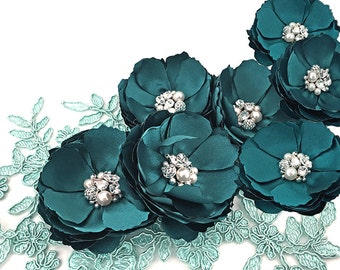Teal Hair Accessories - Shoe Clip For Bride, Bridesmaid, Flower Girl, Formal Occasion, Photo Prop Sister Teacher's Gift - Many Colors - Kia