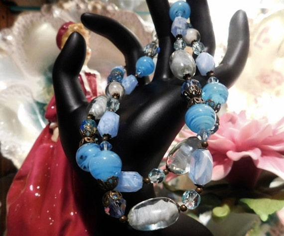 Givre Glass Beaded Necklace