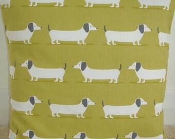 """18x18 Zippered Ochre Dachshund Pillow Cover 18"""" Dachsunds Dogs Wiener Doxie Dog Cushion Slip Sham Case Pillowcase Daschund Sausage Weiner"""