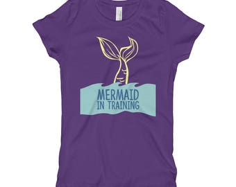 Mermaid Tshirt Girls, Mermaid Shirt Girls, Mermaid Tshirt For Girls, Mermaid Tshirt Toddlers, Mermaid Shirt Toddlers, Girls Mermaid Tshirt