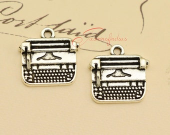 20PCS--18x18mm Typewriter Charms, Antique Tibetan Silver Typewriter charm pendant, DIY Findings, Jewelry Making