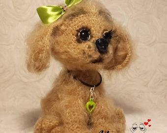 toy handmade crochhet baby gift dool handmade dog soft toy stuffed toy photography props amigurumi cute