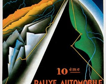 1931 Monte Carlo Rally Poster  A3/A2/A1 Print