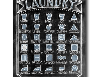 Laundry Room Sign, Laundry Symbols, Laundry Sign, Laundry Room Art, Chalkboard Art, Chalkboard Sign, Chalk Art, Laundry, Home Decor