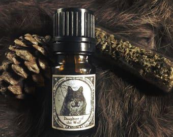 DAUGHTER of the WOLF-(Carnation, Sandalwood, Jasmine, Pine, Cedar, Helichrysum, Patchouli, Pinion Wood, Tobacco) Perfume Oil
