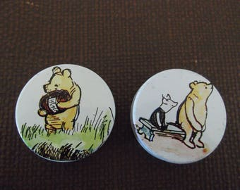 Vintage early 1980s Winnie The Pooh tins, original A A Milne illustrations