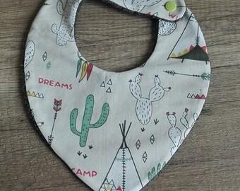 Indian pattern 0-24 month bandana bib