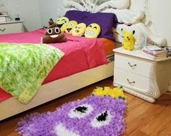 Emoji rug kids room decor handmade