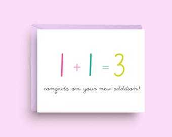 Congrats New Baby Card, New Addition, Baby Card, Baby Shower Card, Newborn Card