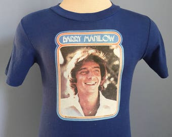 70s Vintage Barry Manilow 1978 T-Shirt - SMALL