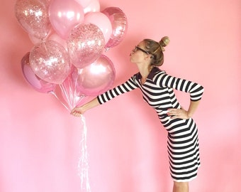 Giant Pink Balloon Bouquet | Confetti Balloons | Pink Balloons