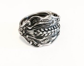 Vintage Sterling Silver Spoon Ring - Handmade Silverware Jewelry