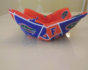 Reversible Soup Bowl Cozy, University of Florida Soup Bowl Cozy, Gators Soup Bowl Cozy