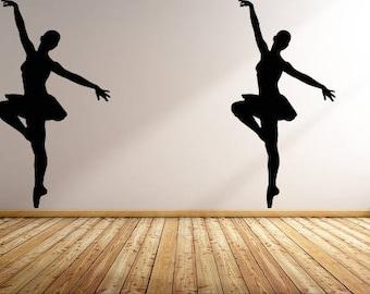 Wall Decal Sticker Bedroom dancing ballet boy girl teenager teen kids room 071d