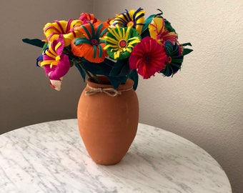 Corn husk handmade flowers