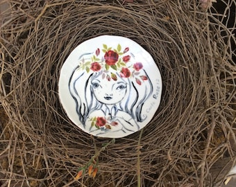 Painted plate by Carla Elizabeth Rose