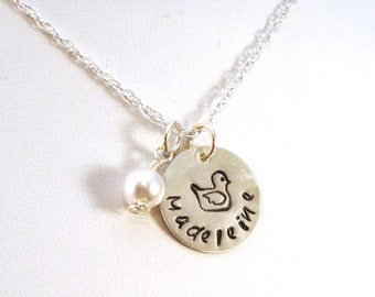 Everything is Just Ducky Name Necklace, Favorite Things Necklace