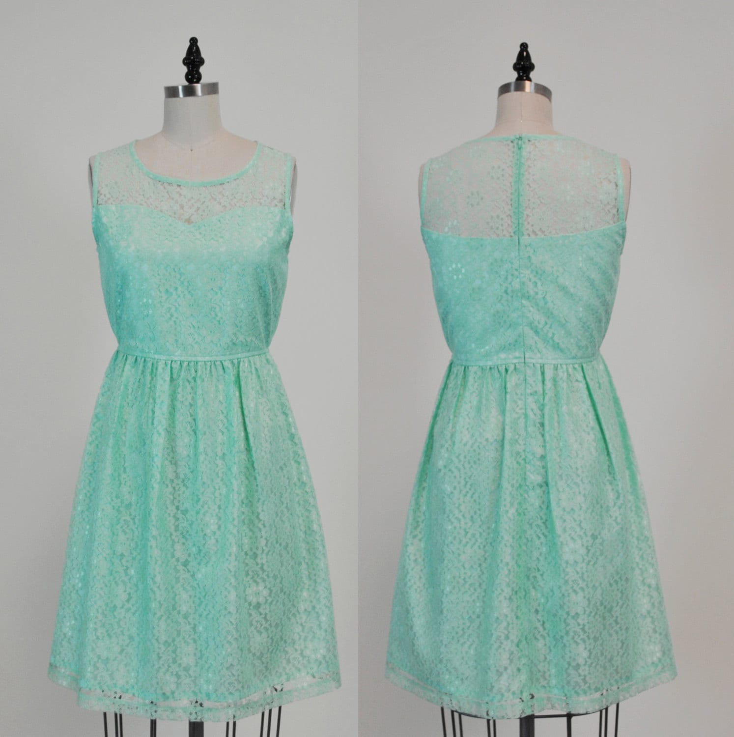 PROVENCE Mint : Seafoam Mint lace dress sweetheart