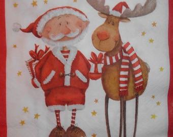 100 paper Santa Claus towel