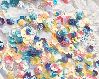 Loose Sequins Mix, Confetti, SPRING BLOOMS MIX