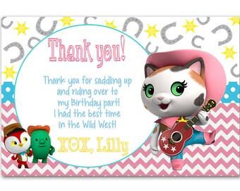 Sheriff Callie thank you card - printable - DIY - digital file