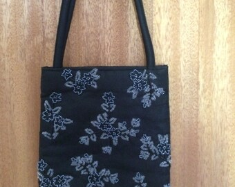 Mini handbag with bead embroidery