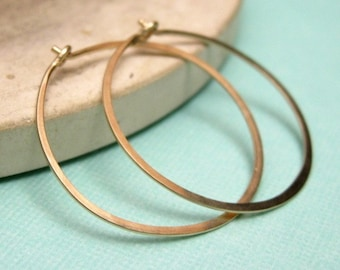 MEDIUM 1 inch 14K gold filled hoop earrings