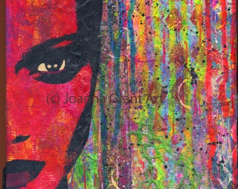ORIGINAL Mixed Media Collage MOD Pop Art