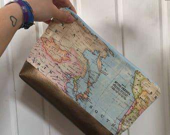 Cosmetic Bag World map
