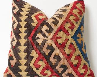 kilim cushion aztec pillow anatolian pillow kelim pillow kilim pillow covers turkish kilim kilim rug zippered pillow home decor bohemian