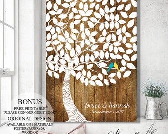 Wedding Gift, Guest Book Alternative, Rustic Wedding Tree, Guest Book, Wedding Signs, Wedding Canvas, Wood Guest Book Tree Personalized Gift