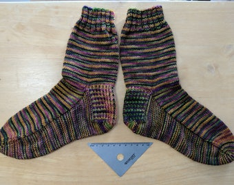 Cozy-soled hand knit socks