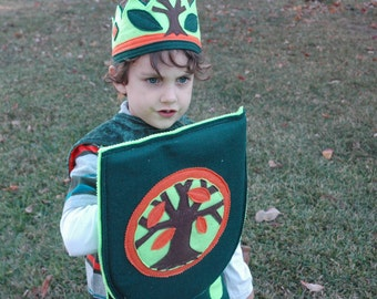 Woodland Prince Knight Shield - EcoFriendly Adventure Gear - Kid Costume